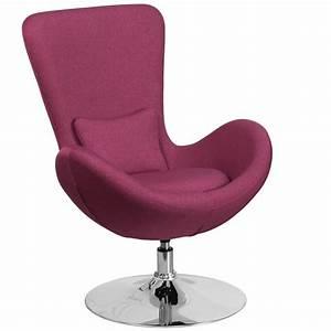 Flash Furniture Magenta Fabric Egg Series Reception-Lounge
