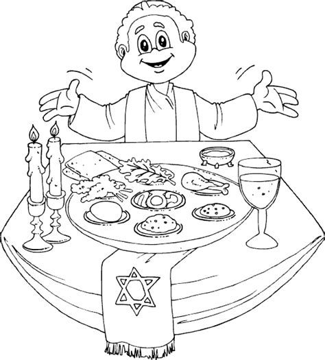 Kleurplaat Pesach Maaltijd by Pesach Coloring Pages Az Coloring Pages