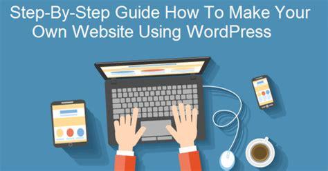 website step  step guide