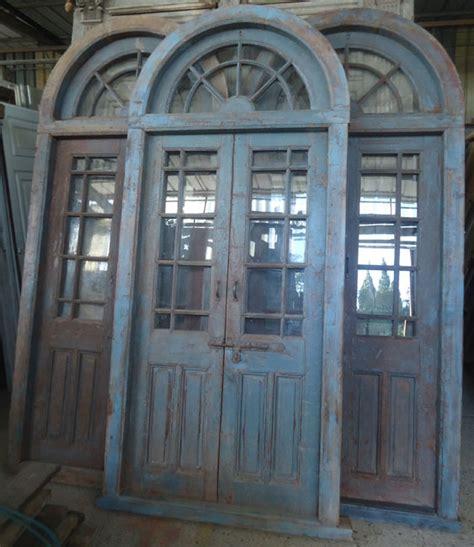cuisine maison du monde occasion porte interieure ancienne vitrée 2 vantaux avec imposte