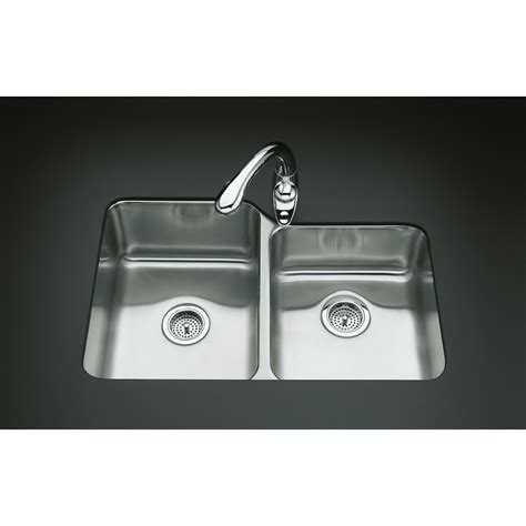 kohler stainless steel kitchen sinks undermount shop kohler undertone 20 87 in x 31 5 in basin 9649
