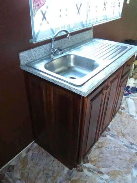 ready  cedar wood kitchen cupboard  sink  sale