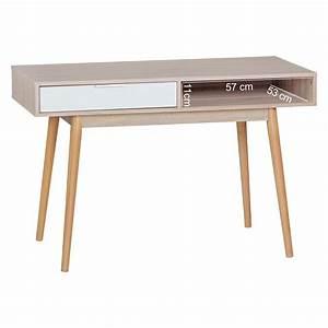Schreibtisch Weiß 120 Cm : finebuy schreibtisch design computertisch mit schublade sonoma wei tisch mit f cher b rotisch ~ Whattoseeinmadrid.com Haus und Dekorationen