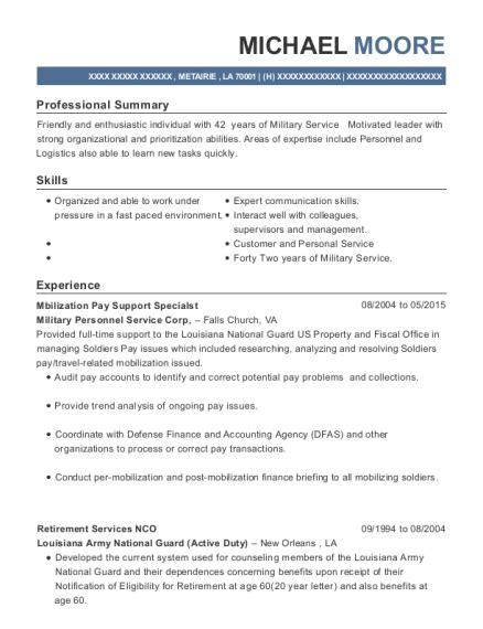 Army Sergeant Resume by Best Supply Sergeant Resumes Resumehelp