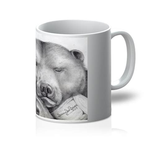 """I didnt know you could paint coffee, but i mean it is kind of like painting with brown watercolors. """"Lazy Bear"""" Coffee Mug - Brewer's Fine Art Collection ..."""