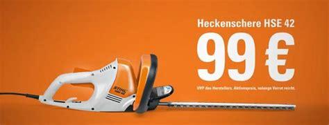 elektro heckenschere stihl stihl hse 42 heckenschere f 252 r 99