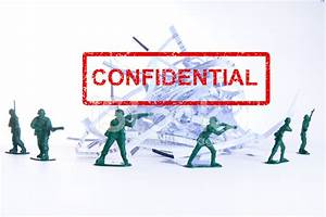 Confidential document shredding protected by toy soldiers for Bank of america document shredding