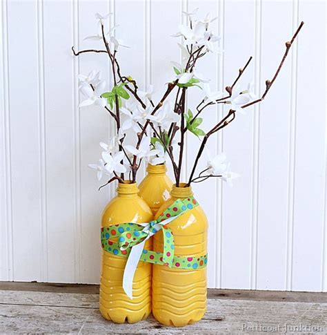 Colorful Decorative Vases by 25 Ways To Repurpose Plastic Bottles Into Home And