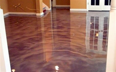 Poured Epoxy Flooring Residential by Concrete Trevino Flooring