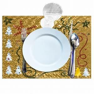 Set De Table : set de table de f te m tallis d coration de table de f te ~ Teatrodelosmanantiales.com Idées de Décoration