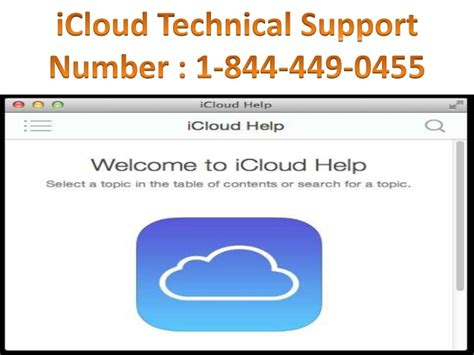 icloud phone number icloud tech support phone number 1 844 449 0455