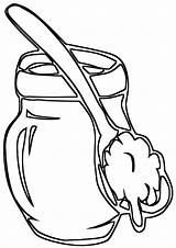 Coloring Pages Wooden Spoons sketch template