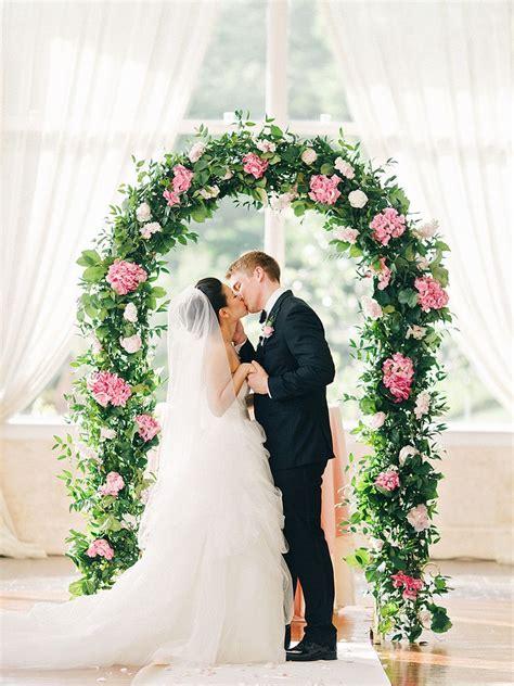 creative indoor wedding arch ideas