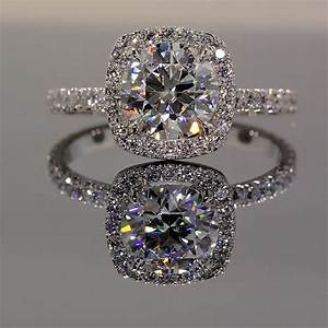 Park avenue halo engagement ring winkcz for Halo engagement rings with wedding bands