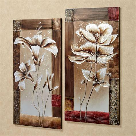 wall decor canvas petals of floral canvas wall set