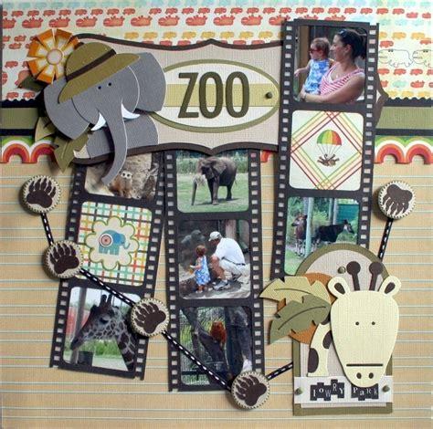 scrapbook zoo scrapbooking layouts layout favething scrap bucket paper sur disney vu stickers twopeasinabucket peas ideescrapbooking