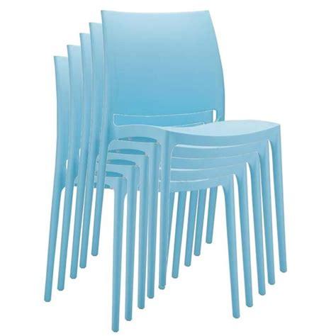 chaise de jardin en plastique chaise de jardin empilable en plastique bleu clair dim