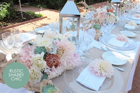 shabby chic wedding table settings expert advice style by organic elements exquisite weddings