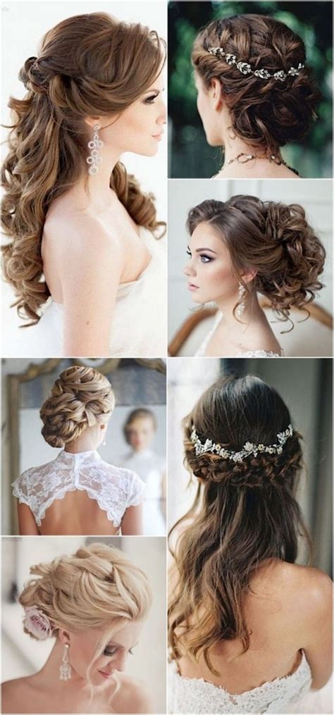 100+ Romantic Long Wedding Hairstyles 2018 Curls Half