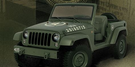 army jeep jeep 75th anniversary jeep wrangler concept celebrates