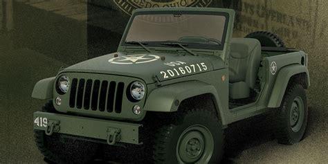 army jeep 2017 jeep 75th anniversary jeep wrangler concept celebrates