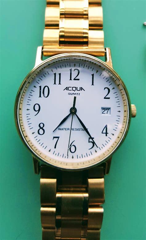 A. A. Timepieces : ACQUA Quartz Watch Time and Date, Water ...