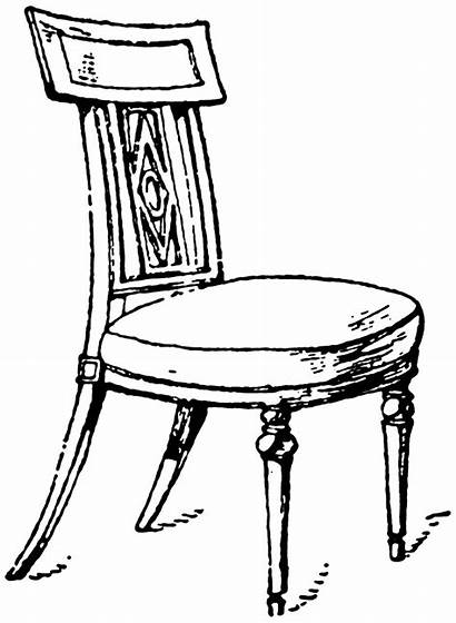 Chair Clipart French Clip Period Cliparts Chairs