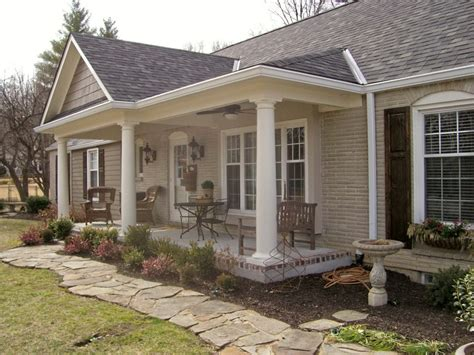 Home Plans With Front Porch by Front House Design Ranch Hipped Roof Ranch House With
