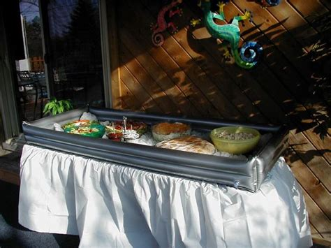 inflatable tabletop cooler living pinterest grad