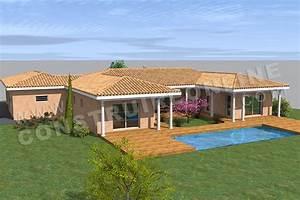 projet de construction dune maison en forme de u dans le With maison en forme de u