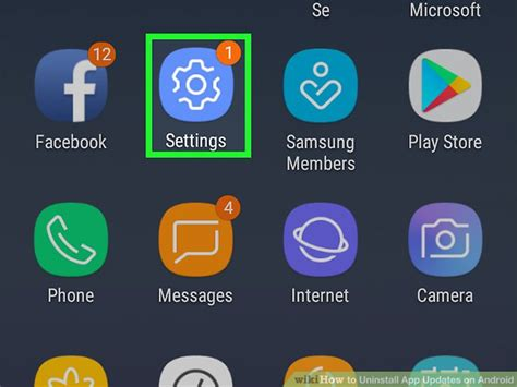 how to uninstall app updates on android with