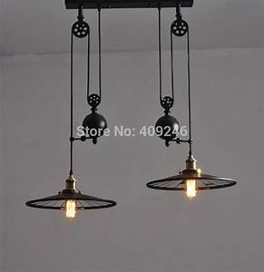 Loft edison industrial retro droplight double end mirror
