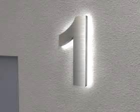 hausnummer design edelstahl hausnummer beleuchtete hausnummer 1 ambilight