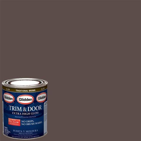 glidden trim and door 1 qt traditional brown gloss