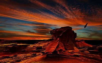 Desert Atacama Sunset Rock Wallpapers Formation Birds