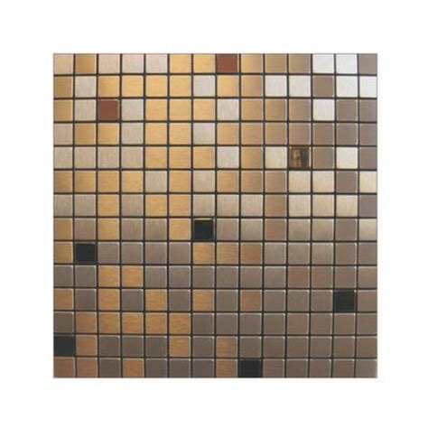 Home Depot Wall Tile Glue by Inoxia Speedtiles Copernic Mosaic Self Adhesive Metal