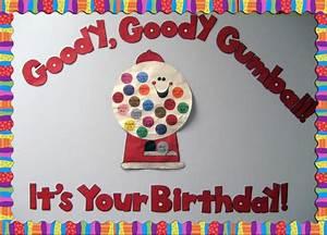 Goody gumball birthday wall display
