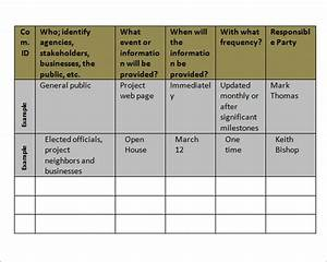 9 communication plan template for Internal comms strategy template