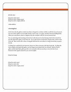 letter format word best template collection With microsoft office letter of recommendation template