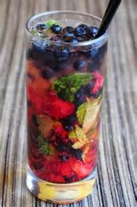 Blueberry-Strawberry Mojito
