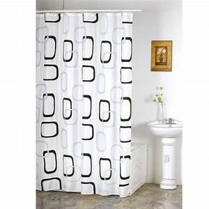 Rideau Noir Et Gris : rideau de douche d cor anneaux noirs et gris po achat vente rideau de douche tissu 100 ~ Melissatoandfro.com Idées de Décoration