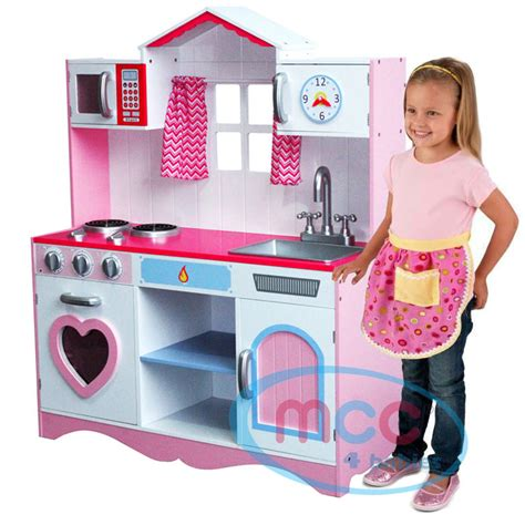kitchen for toddlers large pink wooden play kitchen children s