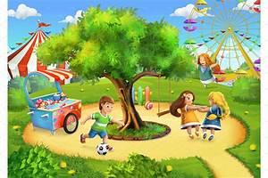 Park, playground background ~ Icons ~ Creative Market