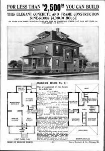 foursquare houses sears mail order house plan american