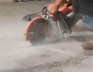 Deckscom cutting through a concrete patio for How to cut a hole in concrete floor