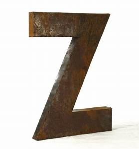 industrial rustic metal large letter z 36 inch kathy kuo With large industrial letters