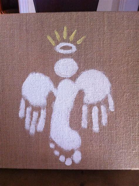 Jakes Handprint And Footprint Angel Christmas