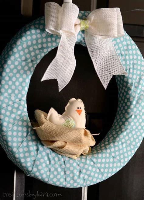 bird nest spring wreath