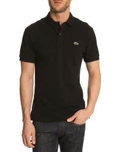 Black Lacoste Polo Shirts for Men