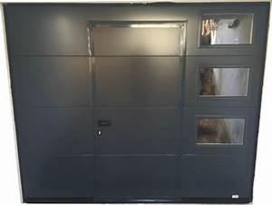 porte sectionnelle avec portillon portech portech With porte de garage sectionnelle avec porte renforcée